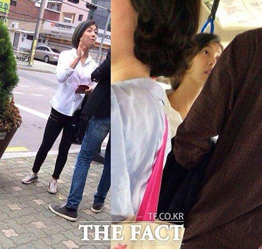 Những hình ảnh của Luna bị bắt gặp đùa giỡn cùng trai lạ giữa đường phố