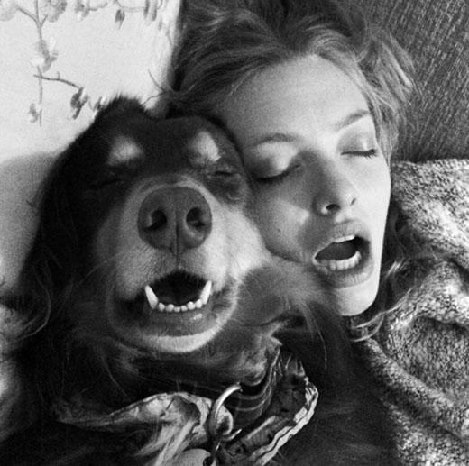 Amanda Seyfried mừng sinh nhật 5 tuổi cún yêu của mình. Biểu cảm của 2 người trong bức ảnh này thật giống nhau phải không nào
