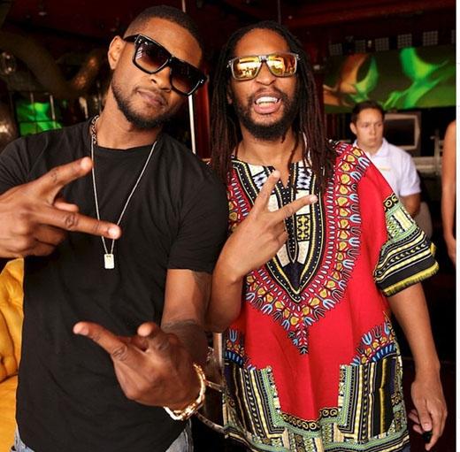 Usher và Lil Jon rủ nhau tham gia một bữa tiệc tại Vegas