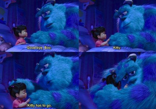 Và cả khoảnh khắc Sulley trả cô bé về thế giới riêng của mình