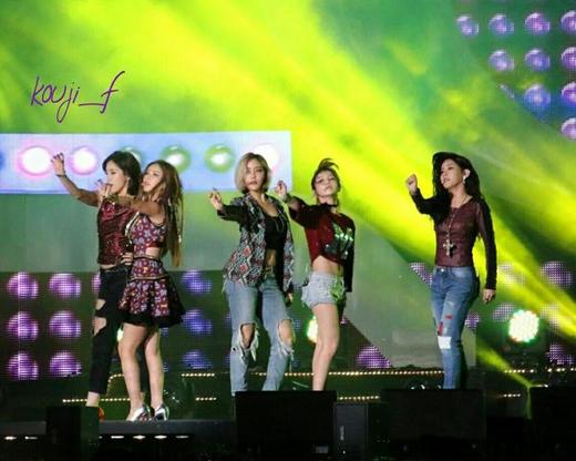T-ara biểu diễn với 5 thành viên trong chương trình Incheon Sky Festival
