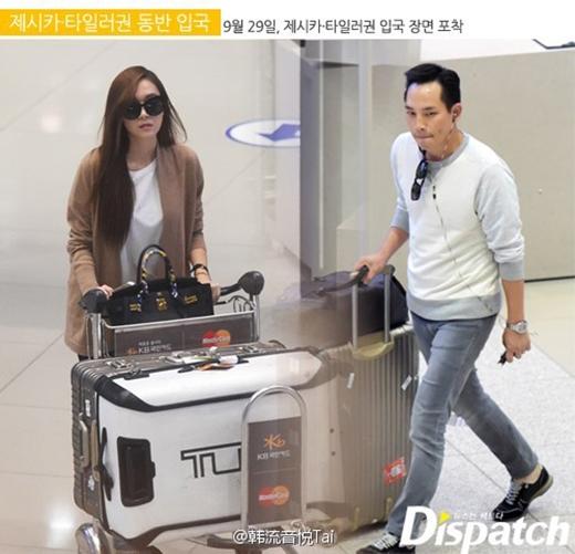 Dispatch bắt gặp Jessica và Tyler Kwon cùng xuất hiện tại sân bay