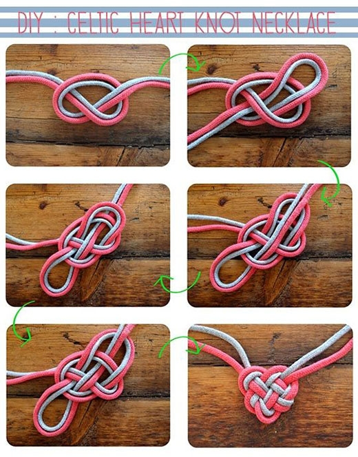 Nút thắt hình trái tim cực đáng yêu