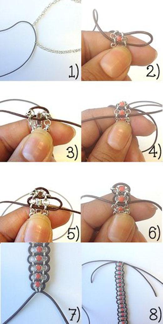 Cách luồn dây vào xích hạt đơn giản