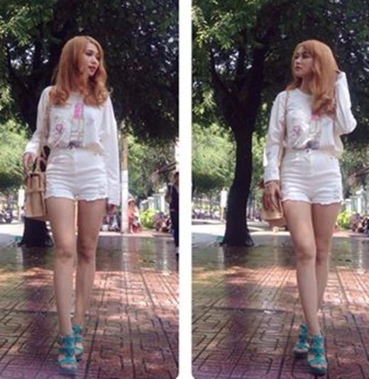 Nàng Chuối Sĩ Thanh khoe outfit năng động với cả cây trắng tôn da nhẹ nhàng. Cô nàng có vẻ đang trong tâm trạng khá hoang mang khi sắp phải xa Sài Gòn để lên thành phố Đà Lạt mộng mơ thực hiện quay một bộ phim mới.