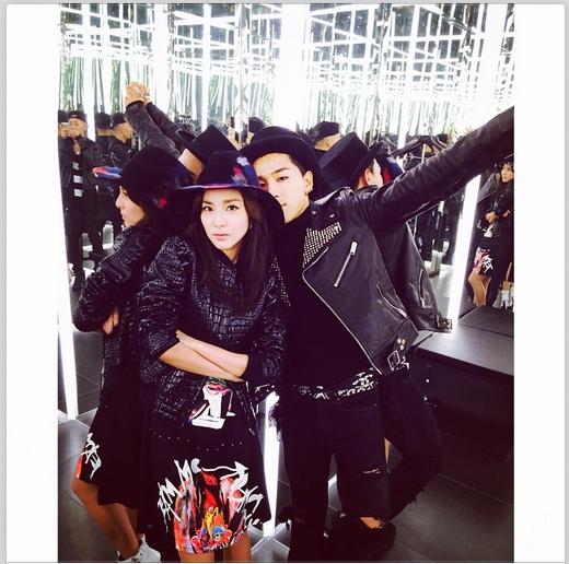 Dara khoe hình tình cảm bên Taeyang