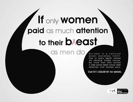 Giá mà phụ nữ cũng chú ý đến ngực của họ như nam giới