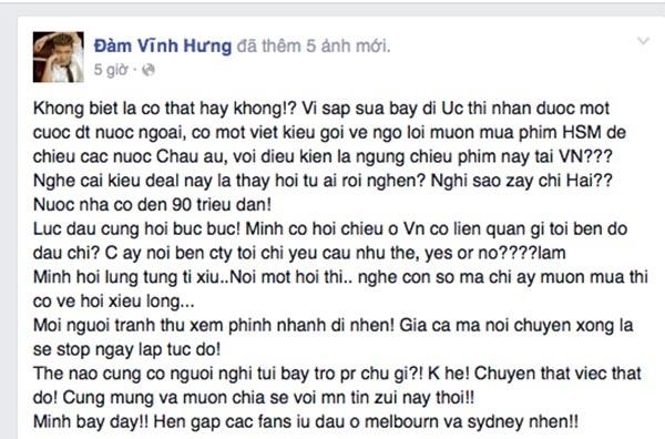 Dòng trạng thái mới của Đàm Vĩnh Hưng trên mạng xã hội - Tin sao Viet - Tin tuc sao Viet - Scandal sao Viet - Tin tuc cua Sao - Tin cua Sao
