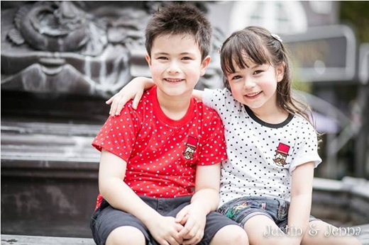 Ngẩn ngơ với vẻ đẹp trong sáng của cặp thiên thần nhí đất Thái