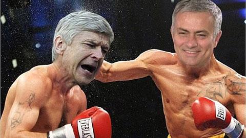 Tối qua, Mourinho đã hạ knock-out Wenger bằng chiến thắng thuyết phục 2-0
