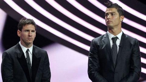 Cristiano Ronaldo và Lionel Messi trái ngược nhau như mặt trăng với mặt trời