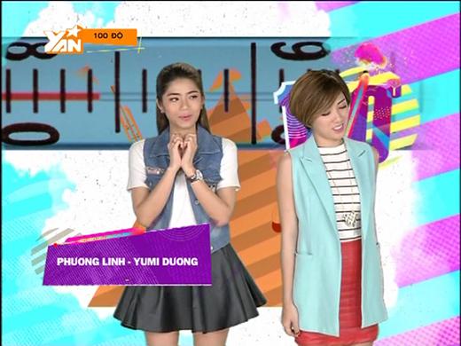 """Đến khi bị nhắc nhở từ sản xuất chương trình, Yumi Dương mới """"hiện nguyên hình"""" và chào hỏi Phương Linh."""