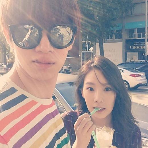 Heechul và Taeyeon vô cùng thân thiết ngoài đời
