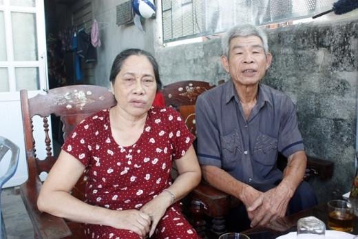 Vợ chồng ông Xuân, bà Điệp.