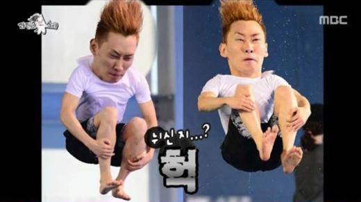 Hình ảnh của Eunhyuk trong chương trình Barefoot Friends