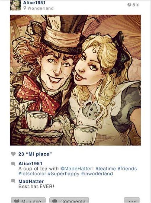Khi các nhân vật Disney gia nhập mạng xã hội
