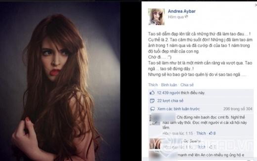 Andrea với những dòng status đầy cay cú - Tin sao Viet - Tin tuc sao Viet - Scandal sao Viet - Tin tuc cua Sao - Tin cua Sao