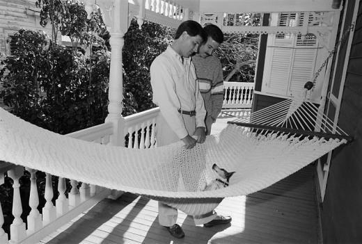 Trip và Alan, Key West, 1988