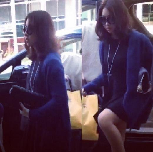 Minzy khoe hình đến Bắc Kinh để tham dự concert YG Family