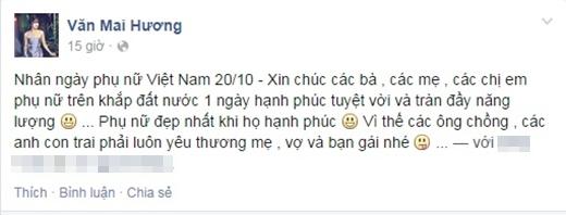 Văn Mai Hương với lời nhắn đến với cánh mày râu: 'Phụ nữ đẹp nhất khi họ hạnh phúc'. - Tin sao Viet - Tin tuc sao Viet - Scandal sao Viet - Tin tuc cua Sao - Tin cua Sao