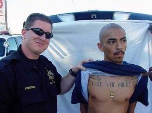 Tên tội phạm lẽ ra nên xăm một dòng chữ khác...