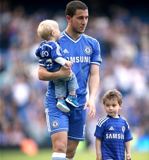 Eden Hazard đã là bố của hai cậu con trai kháu khỉnh