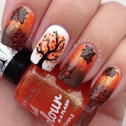 Những mẫu nails cuối thu cực hot