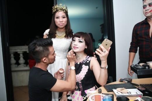 Ngọc Khuê trang điểm thành ma nữ - Tin sao Viet - Tin tuc sao Viet - Scandal sao Viet - Tin tuc cua Sao - Tin cua Sao