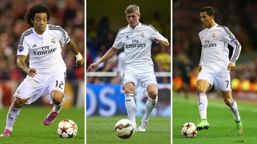 Marcelo - Kroos - Ronaldo là những cầu thủ có phong độ ấn tượng nhất