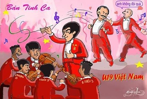Biếm họa gây sốt cộng đồng mạng về chức vô địch của U19 HAGL