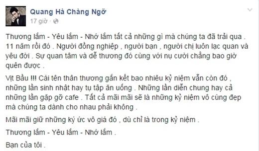 Sao Việt bàng hoàng và thương tiếc ca sĩ Tố Như