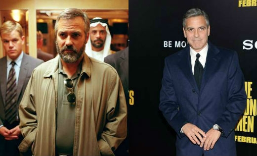 Tham gia vào phim Syriana vào năm 2005, George Clooney đã tăng hơn 15kg để vào vai điệp viên CIA Robert.