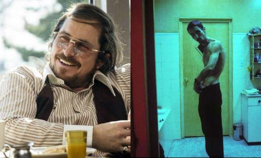 Christian Bale nổi tiếng với khả năng tăng và giảm cân vì vai diễn của mình. Anh đã tăng hơn 28kg cho vai diễn trong phim American Hustle và giảm 28kg cho vai diễn trong phim The Machinist.