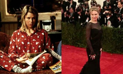 Vì vai diễn Bridget Jones, Renee Zellweger phải tăng thêm 9kg. Cô đã phải tuân theo chế độ ăn có hơn 4.000calo/ngày để đạt được cân nặng này.