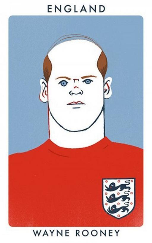 Tiền đạo Wayne Rooney (M.U và ĐT Anh)