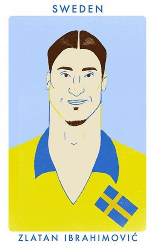 Tiền đạo Zlatan Ibrahimovic (PSG và ĐT Thụy Điển)