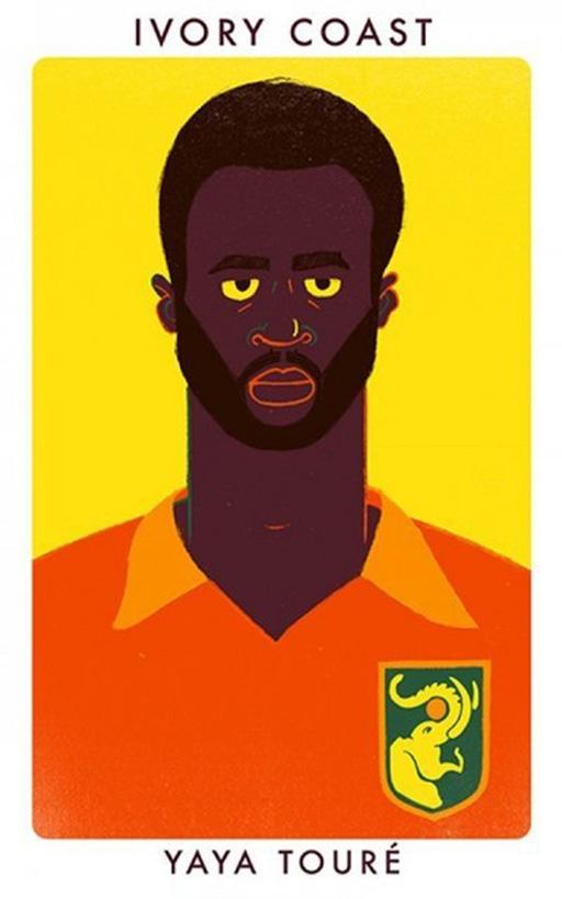 Tiền vệ Yaya Toure (Man City và ĐT Bờ Biển Ngà)