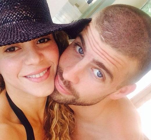 Trong khi Shakira và Gerard Pique lại đăng ảnh cực kì tình cảm