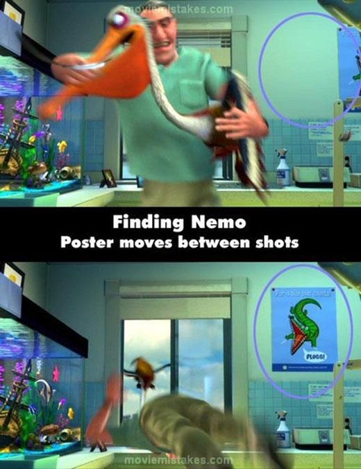 Trong Finding Nemo, chắc vị nha sĩ này cũng không biết ai là người đã di chuyển tấm poster cá sấu trong phòng lúc ông đang vật lộn với chú bồ nông.