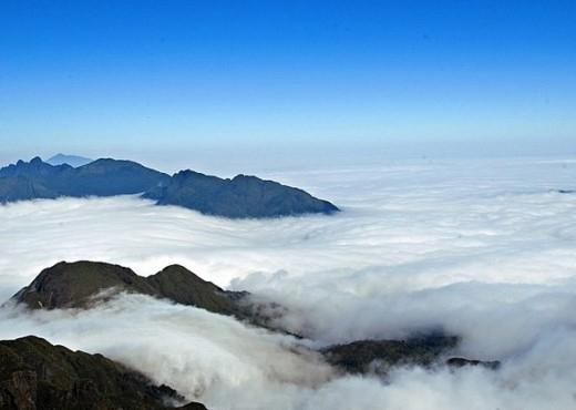 Nóc nhà Đông Dương như đang bơi trong lớp mây mù, không khác gì một bức tranh thủy mặc sống động