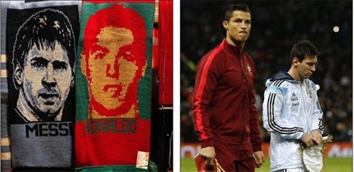 Ronaldo là đội trưởng của ĐT Bồ Đào Nha còn Messi giữ vai trò tương tự ở ĐT Argentina