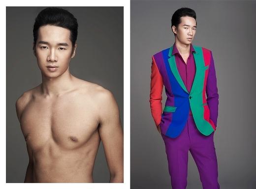 Trọng Thắng , sinh năm 1990, chiều cao 1m90 và thể hình chuẩn của người mẫu.