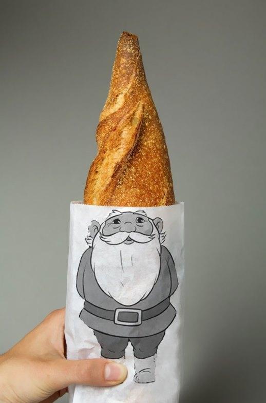 Bao đựng ổ bánh mì cũng lắm công phu