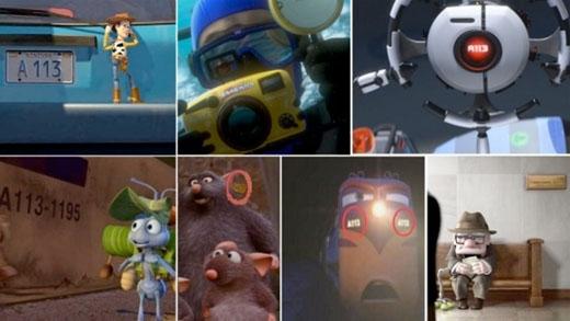 """Bạn đã bao giờ để ý thấy dòng chữ """"A113"""" xuất hiện gần như trong tất cả các bộ phim của Disney/Pixar chưa ? Đó là số hiệu của một lớp học tại trường California Institute of Arts, nơi mà rất nhiều những nhà thiết kế đồ họa vẽ nên bộ phim từng theo học."""
