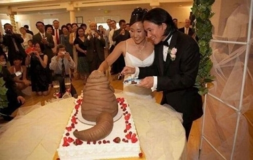 Chiếc bánh cưới quá ấn tượng