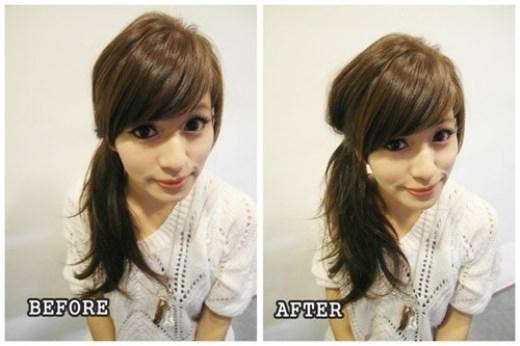 Cách buộc tóc một bên phồng xinh như những cô nàng Nhật Bản