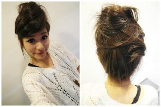 Bạn có thể đánh rối phía sau để mái tóc trông tự nhiên hơn