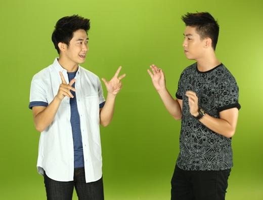 """Quốc Bảo háo hức """"tranh giành"""" sàn diễn với Ngọc Trai"""