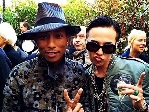G-Dragon và nam ca sỹPharrell
