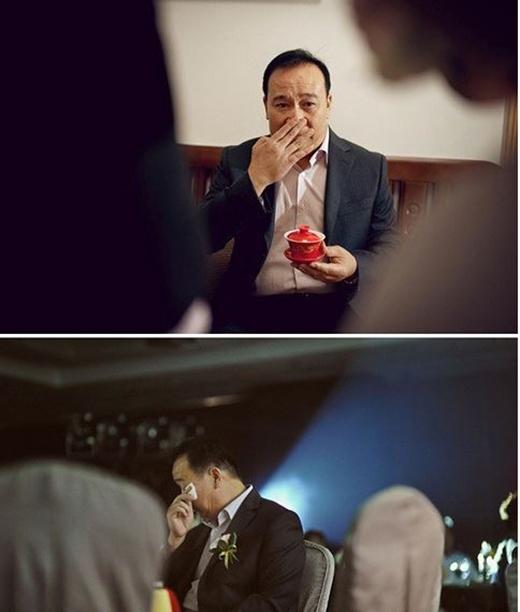 Cảm động chùm ảnh các ông bố bật khóc trong ngày cưới của con